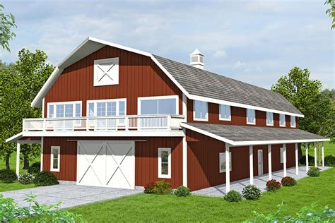 2 Story Barn House Plans Designs