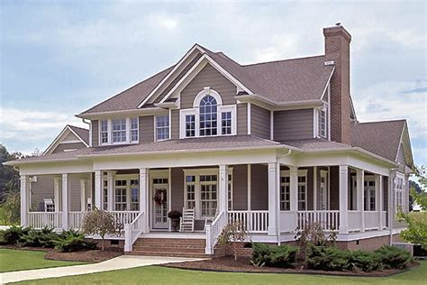 2 Story Farmhouse Plans with Porches