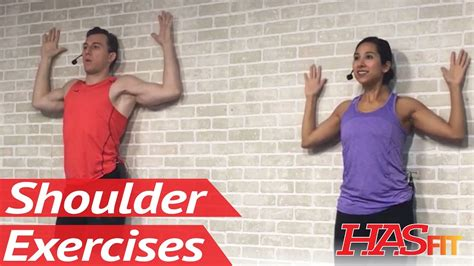[click]20 Min Shoulder Stretching  Strengthening For Pain Relief - Shoulder Pain Exercises Stretches.