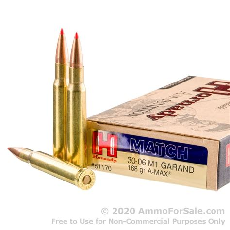 20 Rounds Of 168gr Match A-Max 30-06 Springfield Ammo By .
