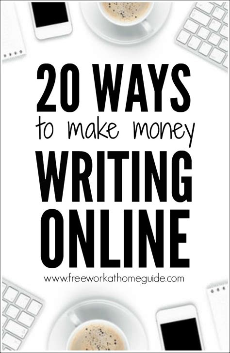 20 Ways To Make Money With Online Writing Jobs.