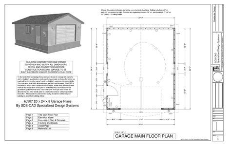 20 X 24 Garage Plans