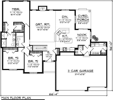 2000 Square Foot One Level House Plans