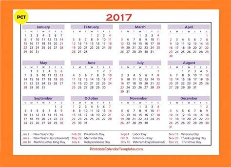 2017 calendar xls