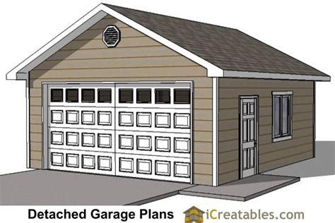 20x20 Garage Building Plans Free