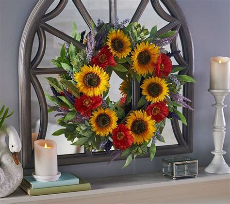 22 Sunflower Wreath By Valerie - Page 1   Qvc Com.