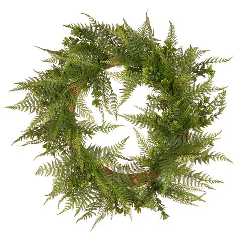 22 In Garden Accents Boston Fern Wreath - The Home Depot.