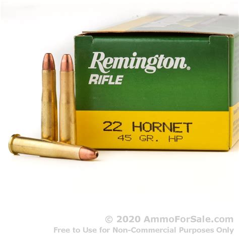 Ammunition 22 Hornet Ammunition In Stock.