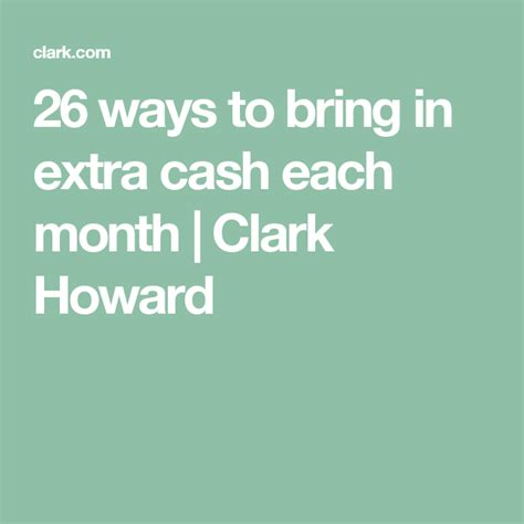 @ 23 Easy Ways To Make Extra Money Right Now - Clark Howard.
