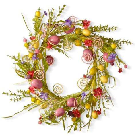 24 In Garden Accents Easter Wreath - The Home Depot.