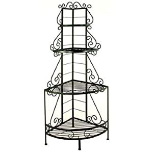 24 Quot Wrought Iron French Corner Bakers Rack Style .