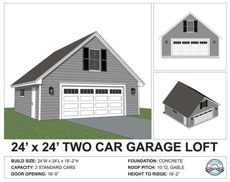 24x24 Garage Plans with Loft Free PDF