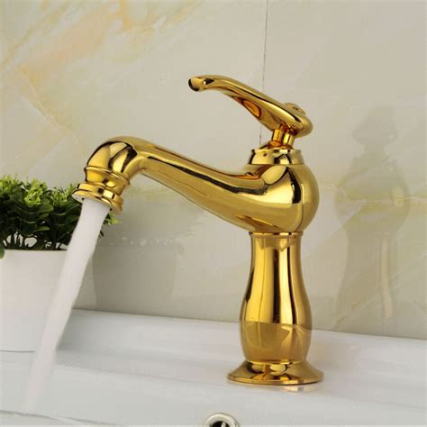 28 Polished Gold Bathroom Faucets   Design Gallery.