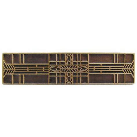 3 Ctc Prairie Tulips  Evergreen Pull - Antique Brass .
