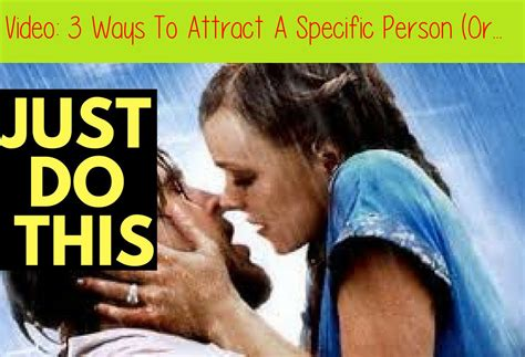 @ 3 Ways To Attract A Specific Person Or Ex Into Your Life Using The Law Of Attraction.