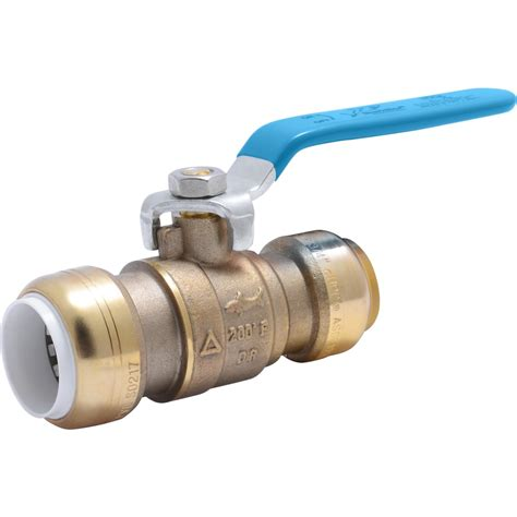 Brass 3 4 In Brass Push To Connect Ball Valve.