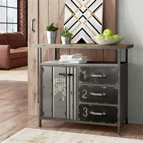 3 Drawer Metal Accent Cabinet