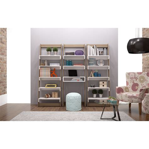 3 Piece Floating Ladder Bookcase