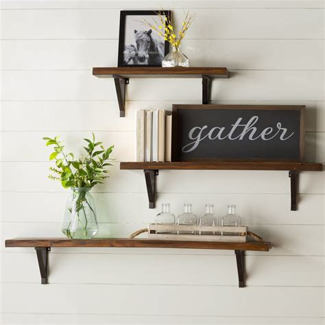 3 Piece Wall Glass Shelf Set