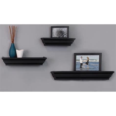 3 Piece Wall Glass Shelf Set