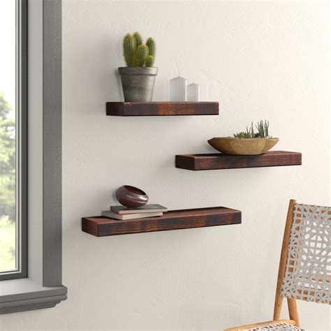 3 Piece Wall Ledge Floating Shelf Set