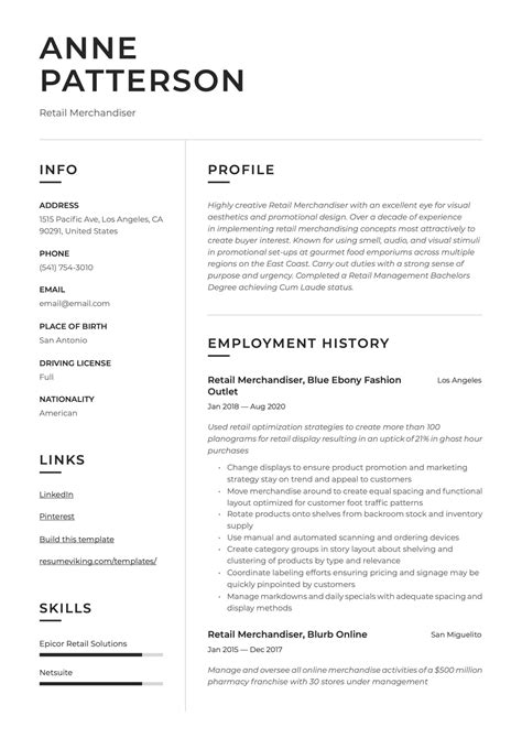 resume style guide