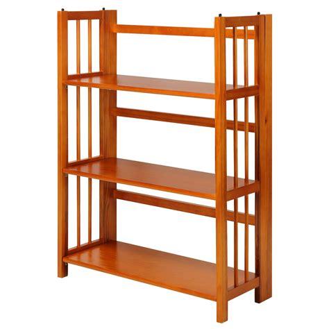 3 Shelf Folding Stackable Standard Bookcase