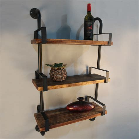 3 Tier Metal Pipe Etagere Bookcase