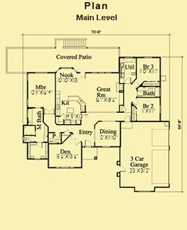 3 Bedroom Contemporary Plans