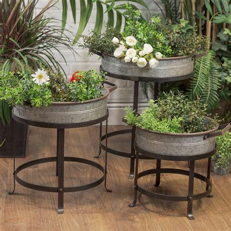 3-Piece Metal Pot Planter Set