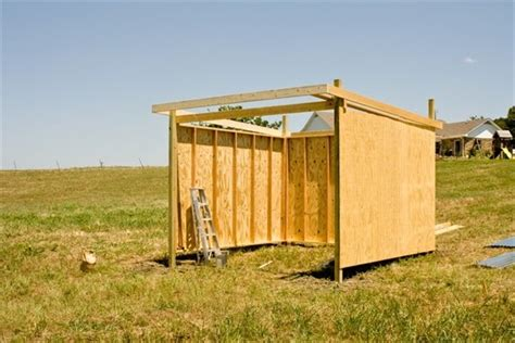 3 Sided Shed Plans