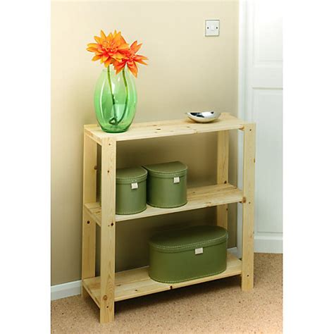 3 Tier Pine Shelving Unit