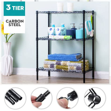 30.5 H Heavy Duty Wire Three Shelve Unit