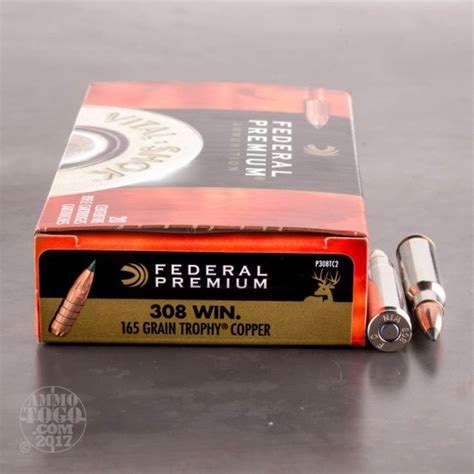 308 Winchester 7 62x51 Ammunition For Sale Federal 165 .