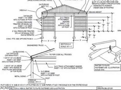 30x40 Pole Garage Plans