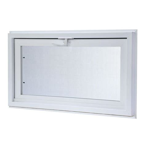 31 75 X 15 75 In Hopper Vinyl Basement Screen Window .