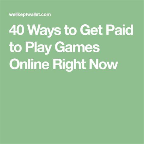 33 Legit Ways To Get Paid To Play Games Online - Well Kept Wallet.
