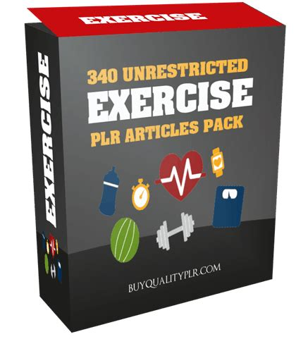 [click]340 Unrestricted Exercise Plr Articles Pack.