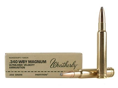 Ammunition 340 Weatherby Magnum Ammunition.