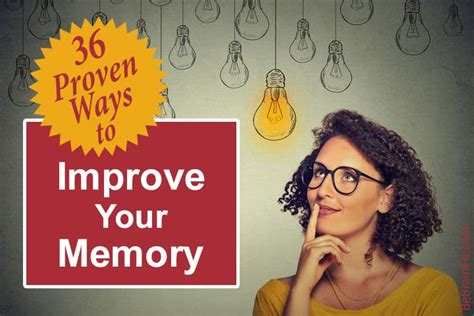 36 Proven Ways To Improve Your Memory Be Brain Fit.
