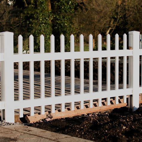 36 Inch White Picket Garden Fence Landscape Supplies  Bizrate.