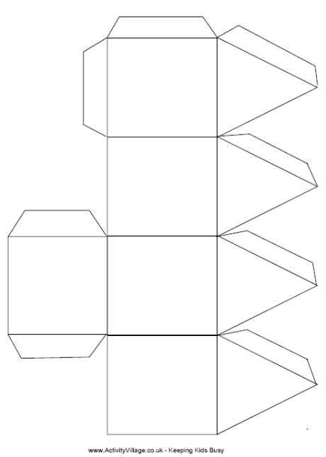 3d Dreidel Template