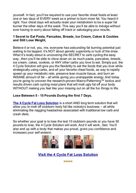 4 Cycle Fat Loss Solution Review Does It Really Work - Ebuy.