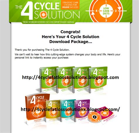4 Cycle Fat Loss Solution Review - The 4 Cycle Solution By Shaun.