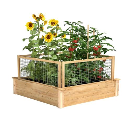 4 Ft X 4 Ft X 10 5 In Original Cedar Raised Garden Bed .