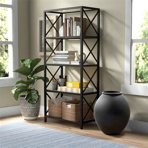 4 Tier Metal Pipe Etagere Bookcase