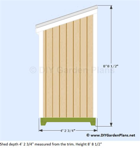 4 X 8 Lean To Shed Plans