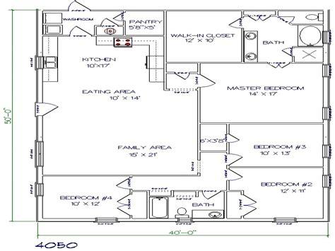 40x50 Metal Barn House Plans