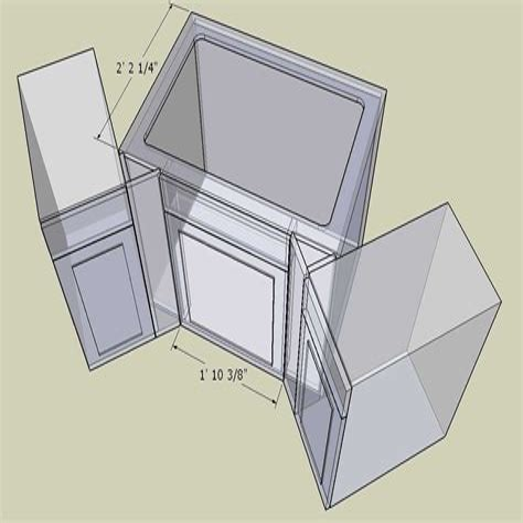42 Corner Sink Cabinet Plans