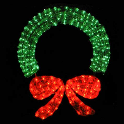 48 Outdoor Wreath With Lights Led Christmas Wreaths .
